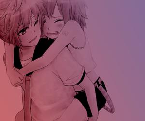 anime, couple, and kagamine image