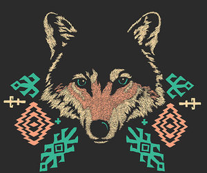 wolf and hipster image