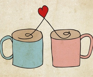 coffee, cups, and love image