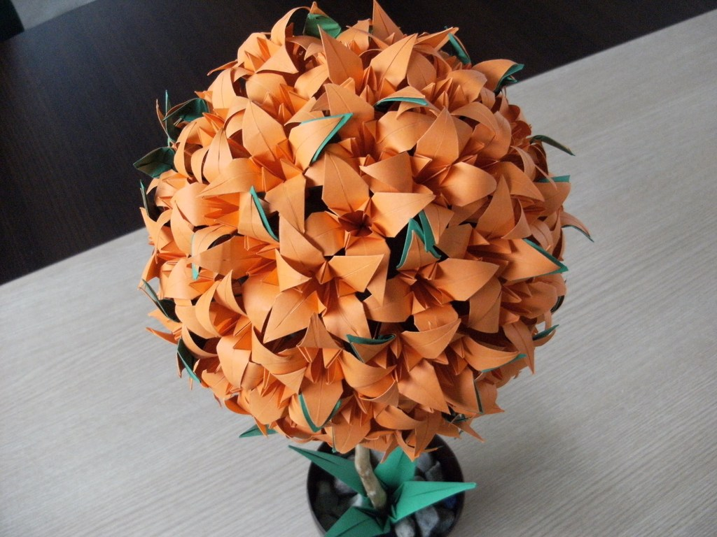 Origami Iris Flower Kusudama Folding Instructions Origami Instruction