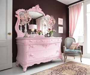chair, pink, and pretty image