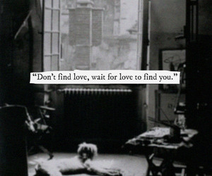 love, wait, and find image