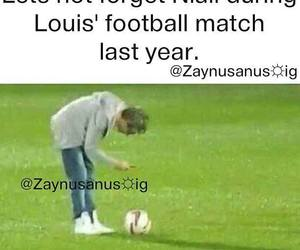 one direction, football, and horan image