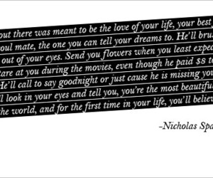 quote, love, and nicholas sparks image