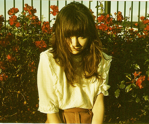 bangs, red, and fashion image