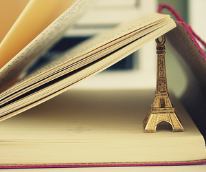 paris, book, and eiffel tower image