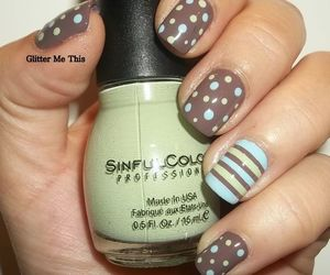 dots, light blue, and nails image