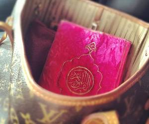 islam, pink, and quran image