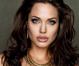 Angelina Jolie, lips, and eyes image
