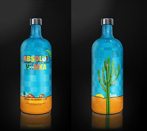absolut and bottle image
