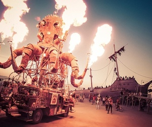 Burning Man, fire, and foto image