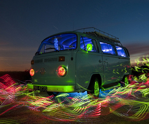 light, van, and car image