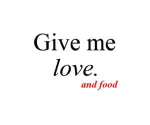love, food, and quote image