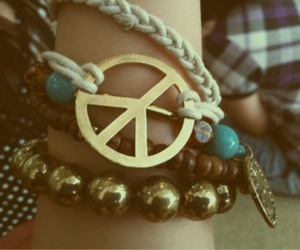 peace and bracelet image
