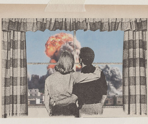 couple, art, and explosion image