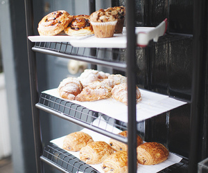 food, muffin, and croissant image