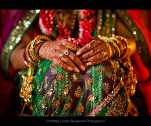 bride and indian wedding image