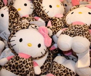 hello kitty, cute, and leopard image