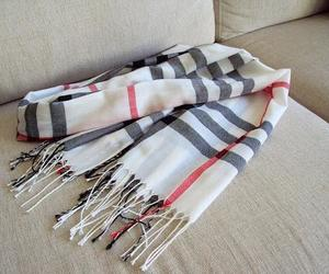 scarf, fashion, and Burberry image