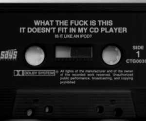 black and white, cassette, and grunge image