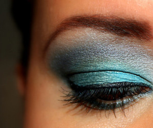 make up, blue, and makeup image