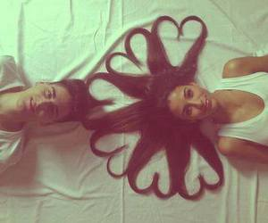 love, hair, and heart image