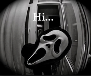 hi, scream, and scary image