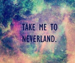 neverland, galaxy, and quote image