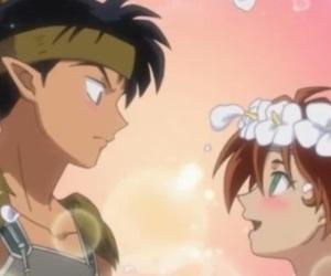anime, love, and inuyasha image