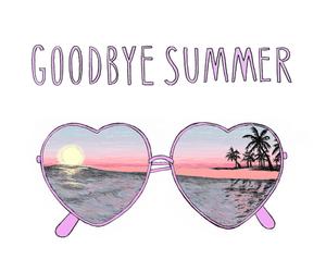 summer, goodbye, and sunglasses image