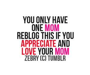 mom and text image