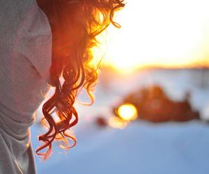 hair, girl, and sun image