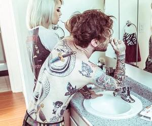 tattoo, couple, and inked image