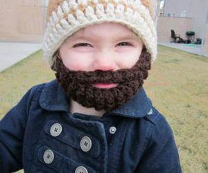 cute, beard, and baby image