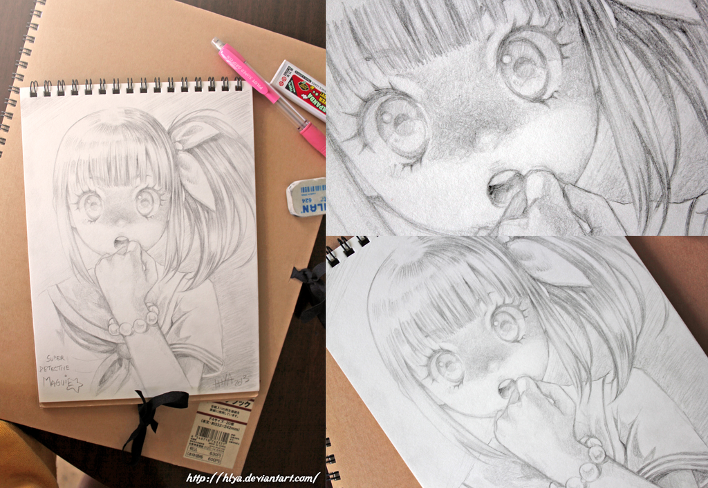 Maguie the super detective pencil drawing by hlya on deviantart