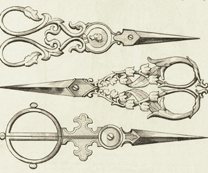 scissors, art, and illustration image