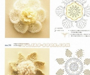 crochet, flowers, and pattern image