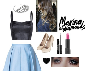 clothes, costumes, and marina and the diamonds image