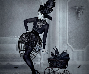 black, black and white, and Natalie Shau image