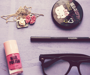 glasses, hello kitty, and chanel image