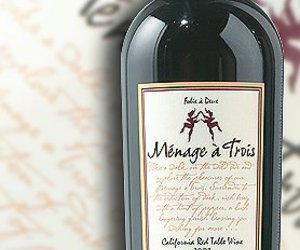 wine, red, and menage a trois image