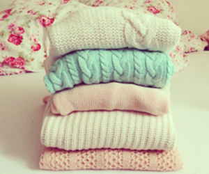 pink, sweater, and pastel image