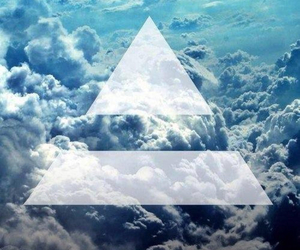 clouds, triangle, and swag image