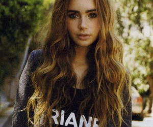lily collins, hair, and pretty image