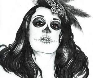 day of the dead, goth, and Melissa image