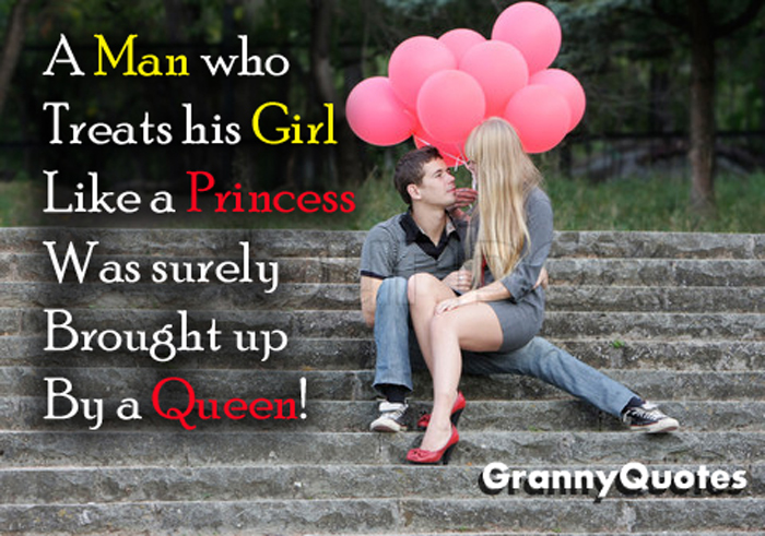 A Man Who Treats His Girl Like A Princess Was Surely Brought Up By A