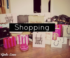 shopping, bag, and pink image