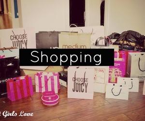 shopping, bag, and pink image