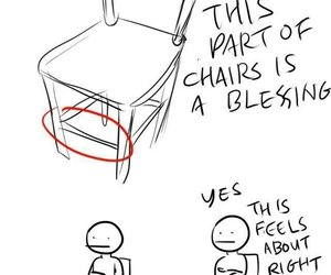 chair, funny, and lol image
