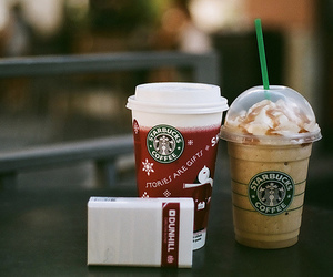 coffee, starbucks, and 35mm image